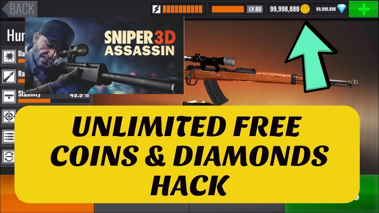 Sniper 3D Unlimited Coins and Diamonds