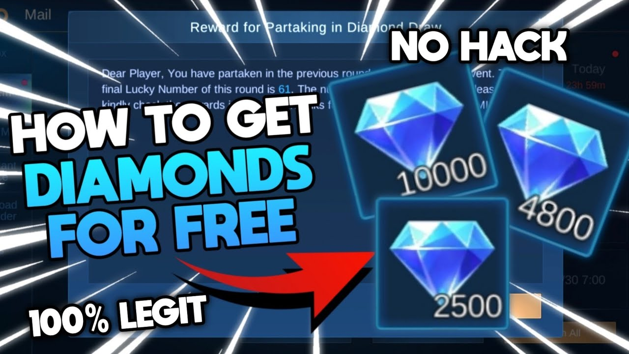 How to get diamonds in mobile legends?